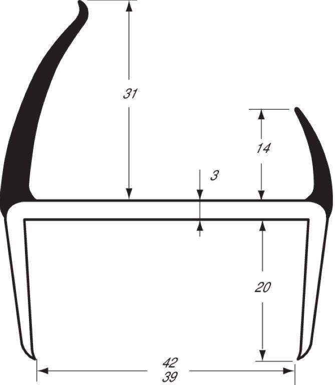 Joint PVC bi-dureté Gris/noir